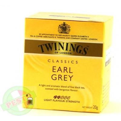 В пакетиках Twinings classics earl grey 10 шт