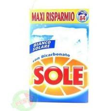 Порошок Sole bianco solare con Bicarbonato 84 прань 5,573кг