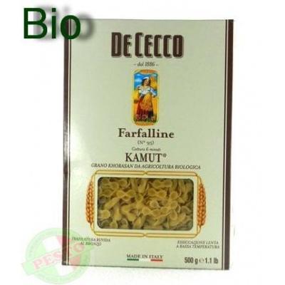 Біологічно чисті та безглютенові De Cecco Farfalline Kamut Biologico n.95 0.5 кг