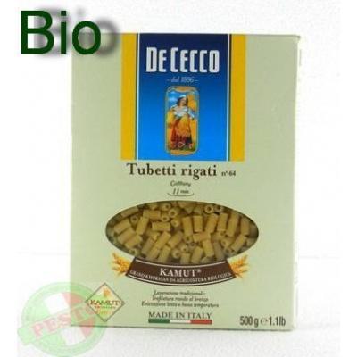 Біологічно чисті та безглютенові De Cecco Tubetti Rigati Kamut Biologico n.64 0.5 кг