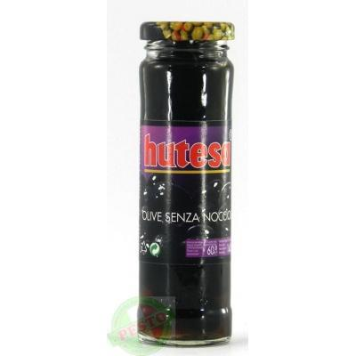Чорні Hutesa olive senza noccioli 140 г