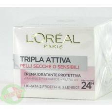 Крем Loreal paris tripla attiva pelli secche o sensibili 50мл