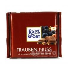 Шоколад Ritter Sport trauben nuss 100г
