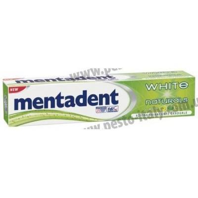 Зубна паста Mentadent White Naturals відбілююча 75мл