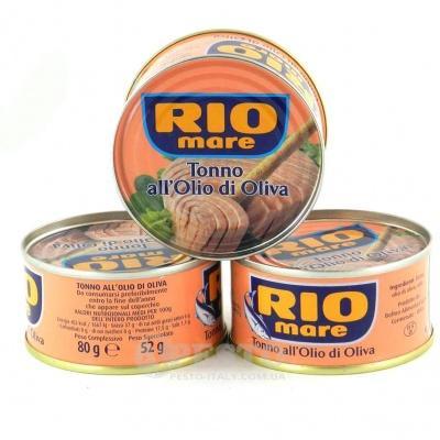 Тунець Rio mare в оливковiй олii 80 г
