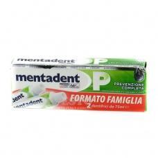 Зубна паста Mentadent P повне запобігання 2шт по 75мл