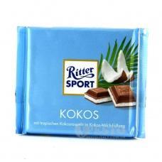Шоколад Ritter Sport молочний з кокосом 100г
