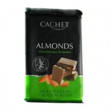 Cachet молочний з мигдалем 32% какао 300 г