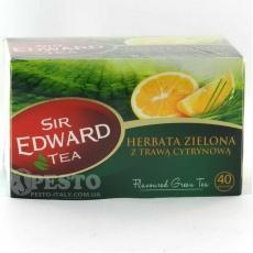 Чай Сер Едвард зелений чай із смаком лимона 40 пакетів