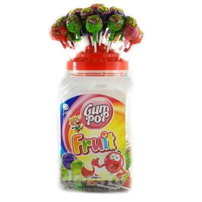 Льодяники Чупа-чупс Gum pop фруктові 18 г
