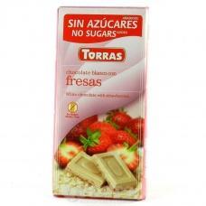 Torras без глютену та цукру полуниця 75 г