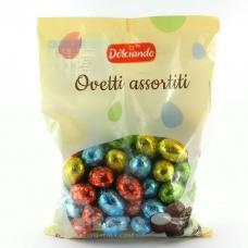 Dolciando Ovetti assortiti шоколадні яйця 0.850 кг