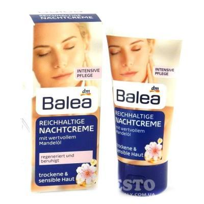 Нічний крем для обличчя Balea для чутливої шкіри з мигдальною олією 50мл
