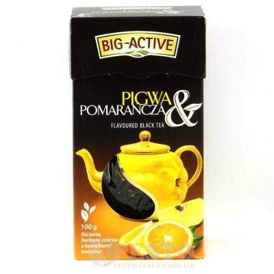Розсипний Big Active чорний з айвою та апельсином 100 г