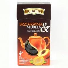Big Active чорний з персиком та абрикосом 80 г
