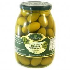 Italcarciofi olive verdi bella di gerignola з кісточкої 1.062 кг