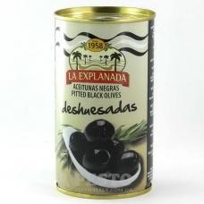 Оливки La Explanada чорні без кісточки 350г