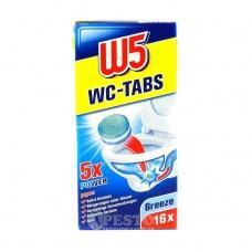 Таблетки для унітазу W5 Breeze 5*power 16шт