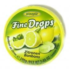 Льодяники Woogie Fine drops лимон 200г