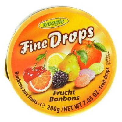 Льодяники Woogie Fine drops фруктові 200 г