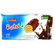 Шоколадні рулетики Dolciando Rotoli 6шт по 37г