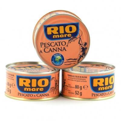 Тунець Rio mare Pescato e Canna в оливковій олії 80 г