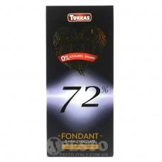 Torras Zero без глютену та цукру чорний 72% какао 100 г