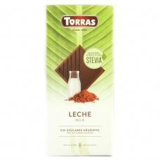 Шоколад Torras Stevia молочний без глютену 100г
