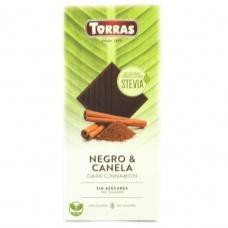 Torras Stevia чорний з корицею без глютену та цукру 125 г