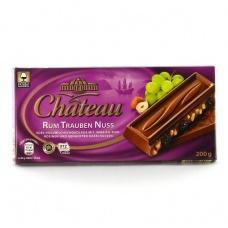 Шоколад Chateau з горіхом розинками та ромом 200г