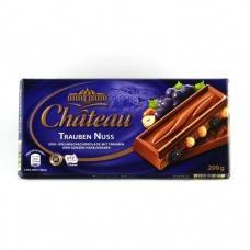 Шоколад Chateau з горіхом та розинками 200г