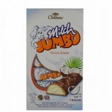 Шоколадні батончики Chateau Milch Jumbo з кокосовою начинкою 7 шт 150г