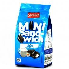 Печиво Sondey mini sand-wich шоколадне з молоком 150г