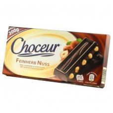 Choceur чорний з цілим лісовим горіхом 200 г