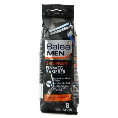 Станки для гоління Balea з алоє вера та вітаміном Е 3леза 8шт
