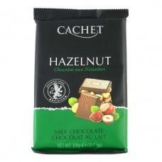 Шоколад Cachet молочний з горіхом 300г