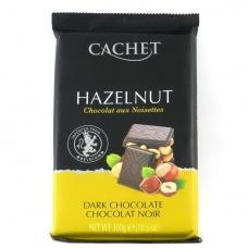 Шоколад Cachet hazelnut чорний з горіхом 300г