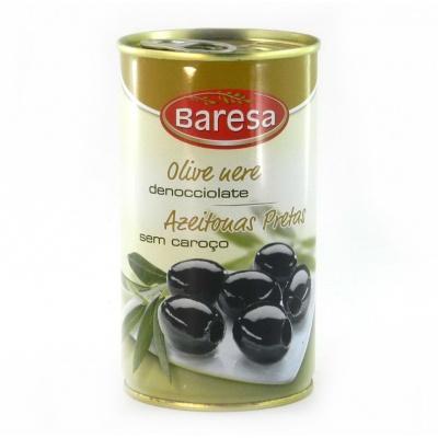 Чорні Baresa olive nere безз кісточкою 350 г