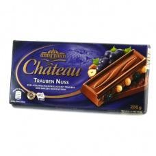 Шоколад Chateau з родзинками та цілим лісовим горіхом 200г