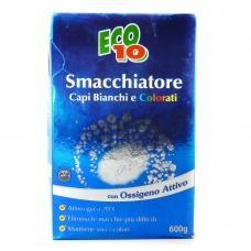 Засіб для виведення плям Eco10 для білих та кольорових тканин з активним киснем 0,6кг