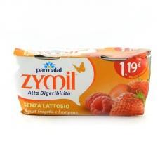 Йогурт Parmalat Zymil без лактози з малиною та полуницею (2*115г) 230г