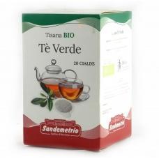 Чай Tisana BIO Te Verde бологічний 20 пакетиків