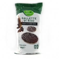 Рисові галети Fior di Natura вкриті чорним шоколадом 100г