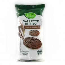 Рисові галети Fior di Natura вкриті молочним шоколадом 100г