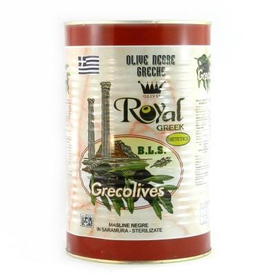 Чорні Royal greek з кісточкою 4.650 кг (грецькі) ж/б