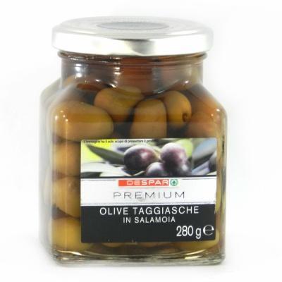 Чорні Despar Premium olive taggiasche з кісточкою 280 г