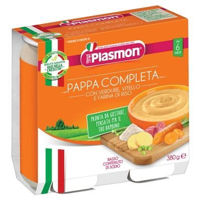 Пюре Plasmon з телятиною та овочами 2*190г