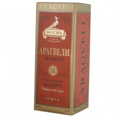 Грузинський коньяк Aragveli premium в тетрапаці 40% 2л