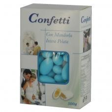Цукерки Confetti мигдаль в голубій глазурі 0,5кг