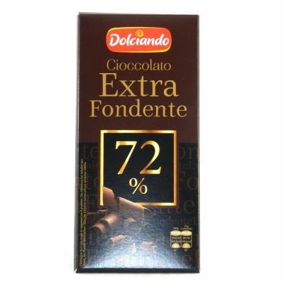Шоколад Dolciando Extra Fondente 72% 100 г